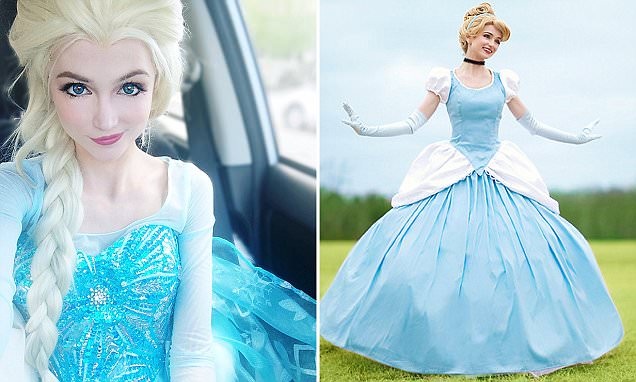 WOMAN SPENDS £10K TRANSFORMING INTO DISNEY PRINCESSES