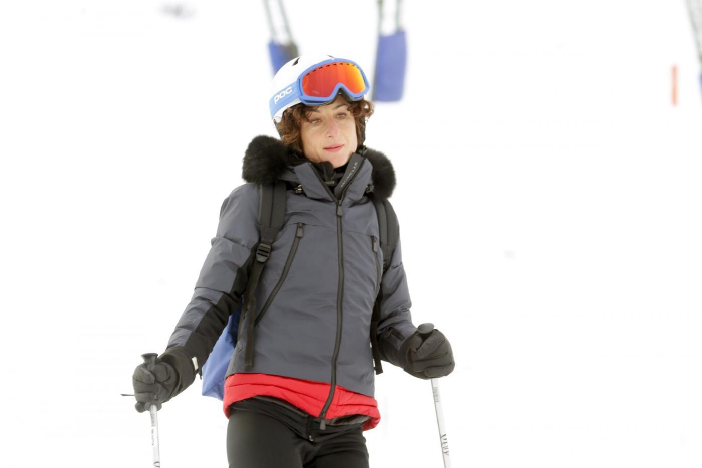 Foto Adriano Conte/ LaPresse31-12-2015 CourmayeurAgnese Landini con la sorella di Matteo Renzi Matilde sulle piste da sci di courmayeur