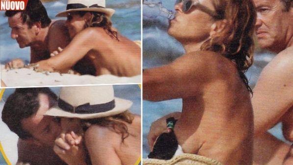 Cristina Parodi, topless-show a Formentera