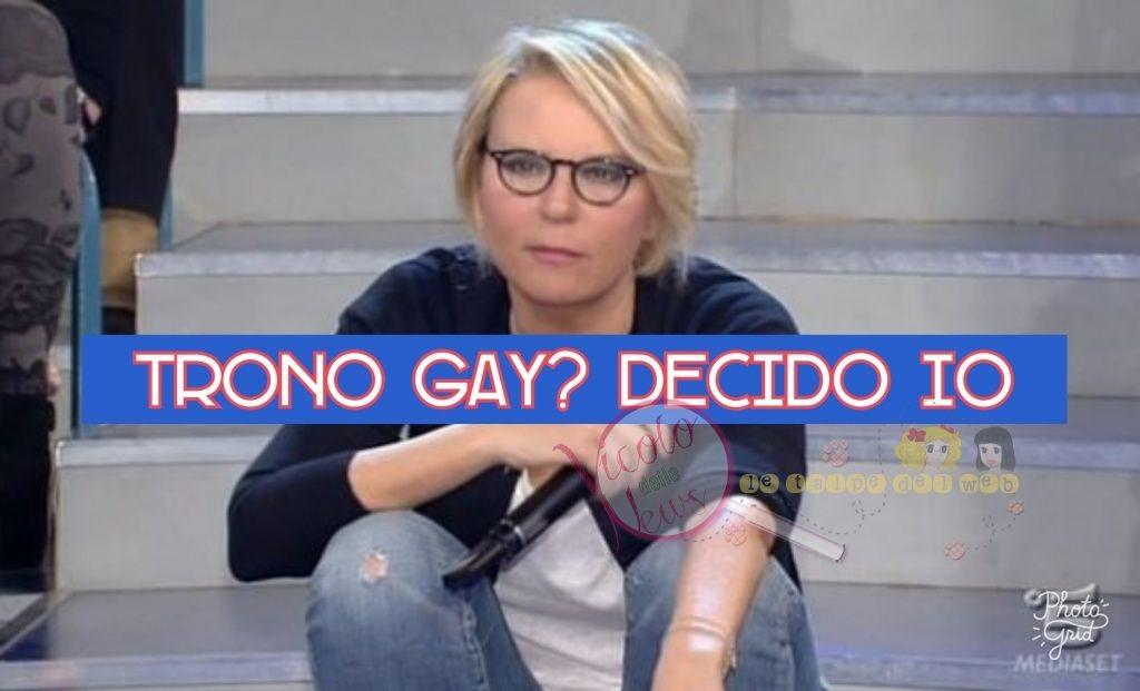 Maria De Filippi infuriata, il trono gay verso la cancellazione