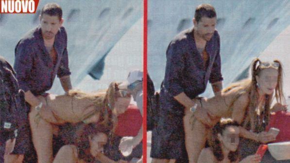 Marco Borriello, acrobazie hot in barca con una biondina